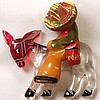 BP31 lucite donkey/bakelite Mexican man pin