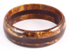 AB31 tobacco/dark chocolate laminate bangle