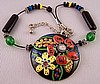 SJ29 Chicos handpainted disc necklace
