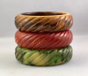 BB9 chunky ribbed bakelite bangle