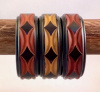 BB38 geometric carved overdyed bangles