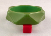 BB138 green concave facets bangle
