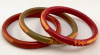 BB27 trio narrow overdyed Bakelite Bangles