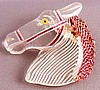 BP17 tinted lucite horse head pin