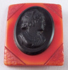 BP11 resin washed bakelite cameo pin
