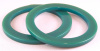 BS1 teal wide walled spacer bangle
