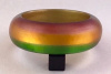 LG31 handpainted tri color lucite bangle