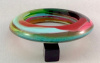 LG136 Sobral multicolor saucer bangle