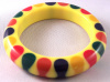 JE38 unsigned resin bangle with 5 color bowties