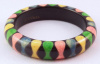 JE14 Judith Evans black resin bangle with pastel bowties