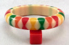 Evans10 Judith Evans cream resin bangle with 4 color bowties