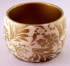 PO13 PONO gold/white floral etched resin bangle