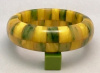 SZ21 Shultz lemon/inkspot 2 row checkerboard bangle